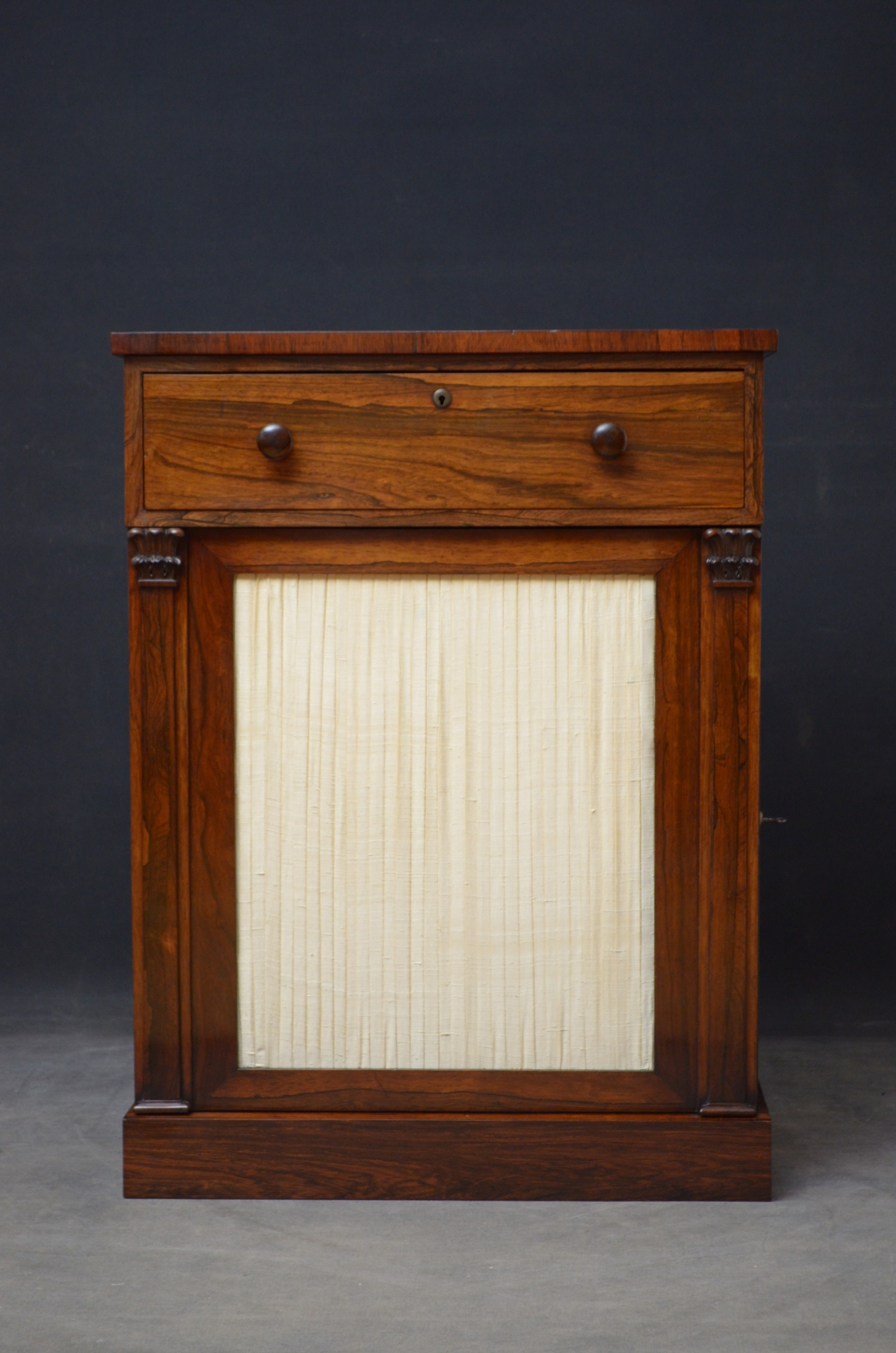 william iv rosewood secretaire cabinet