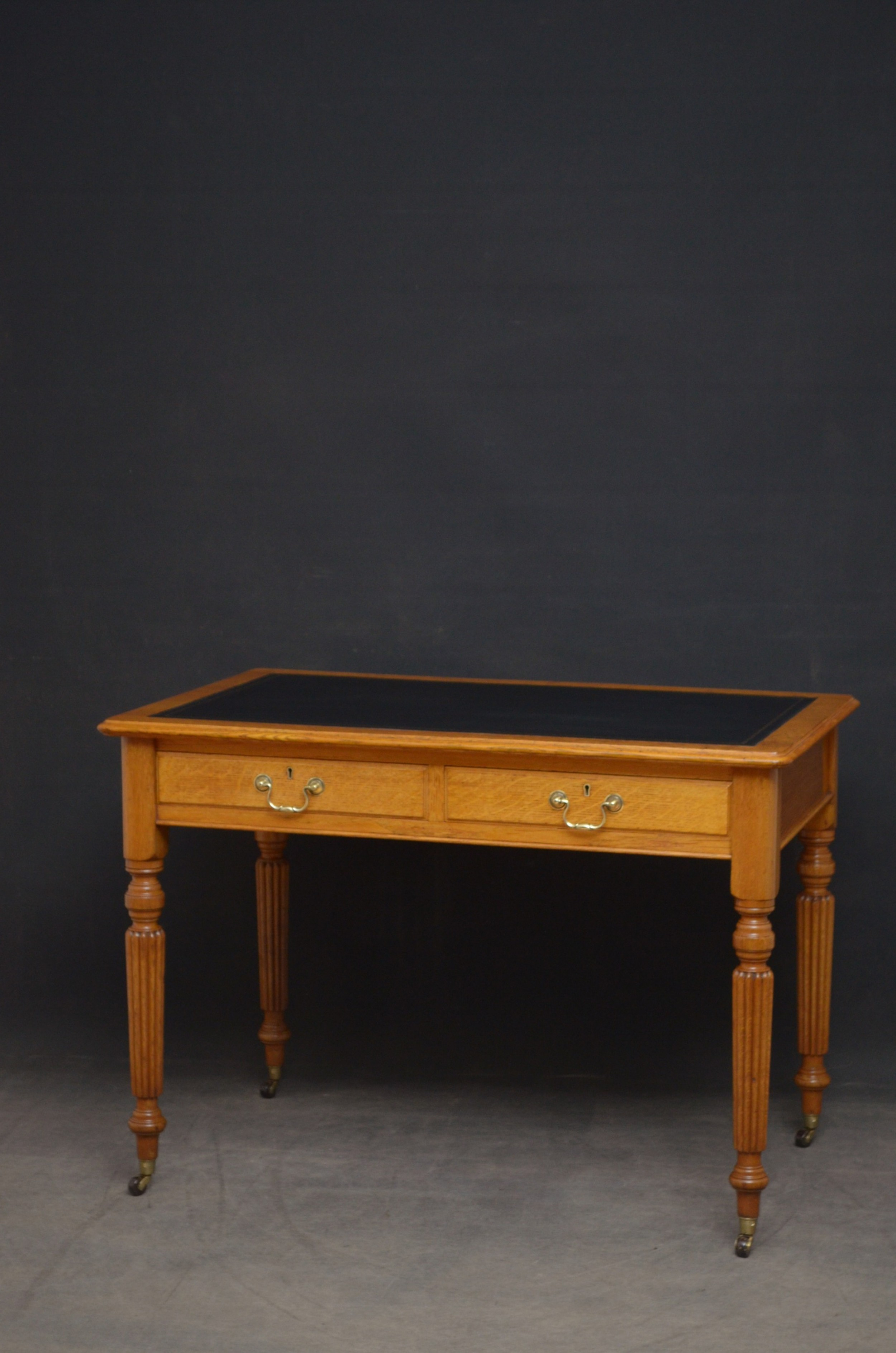 edwardian oak writing table