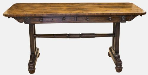rosewood library table in manner of gillows