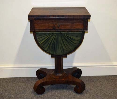 victorian rosewood gamessewing table