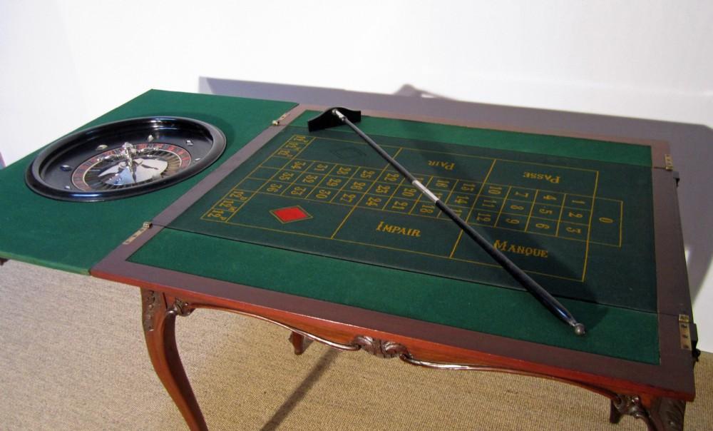 edwardian 'maples co' roulette table