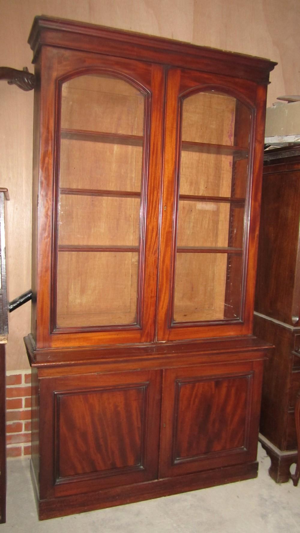 victorian mahogany bookcase c1870