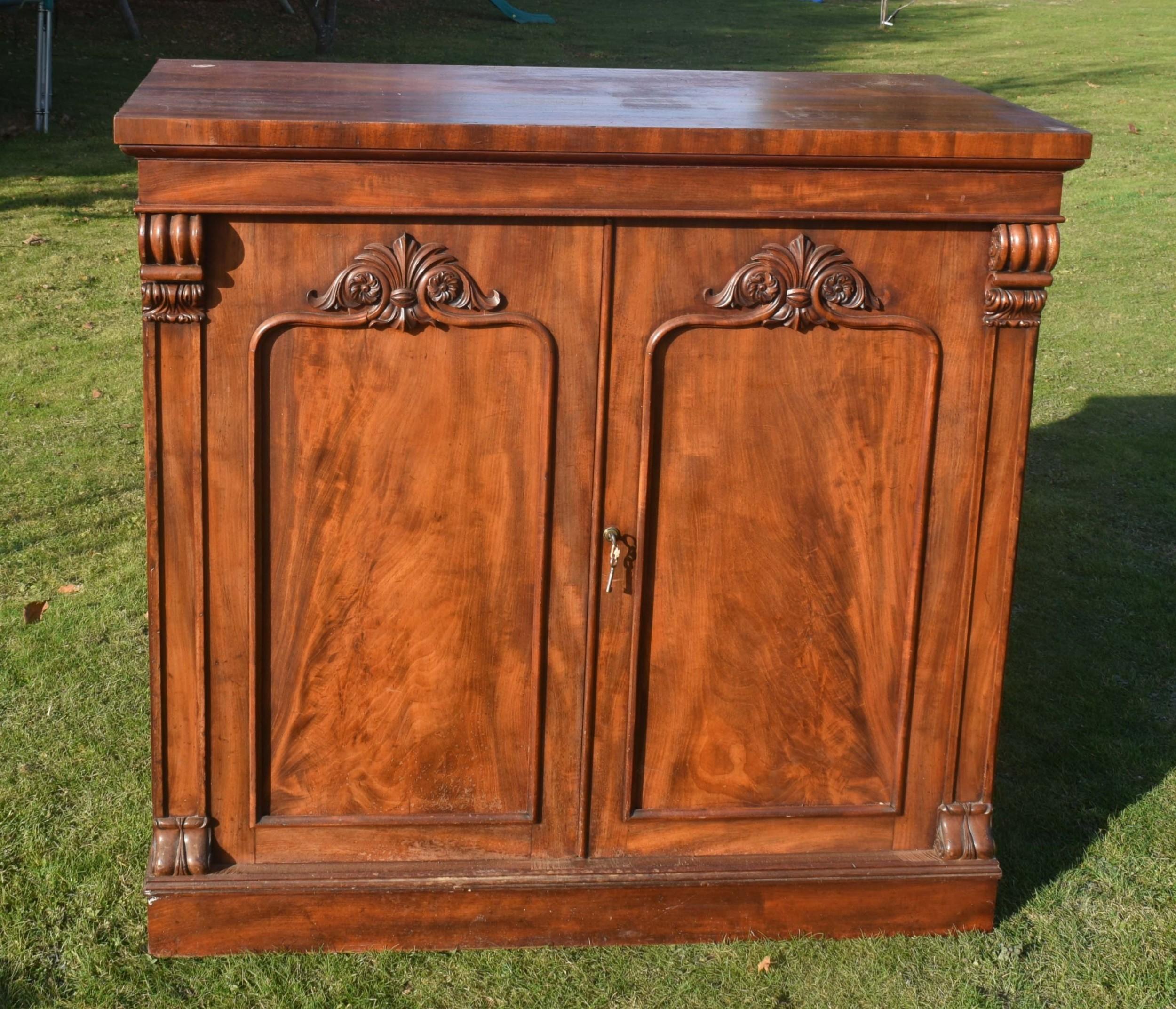 victorian mahogany collectors cabinet
