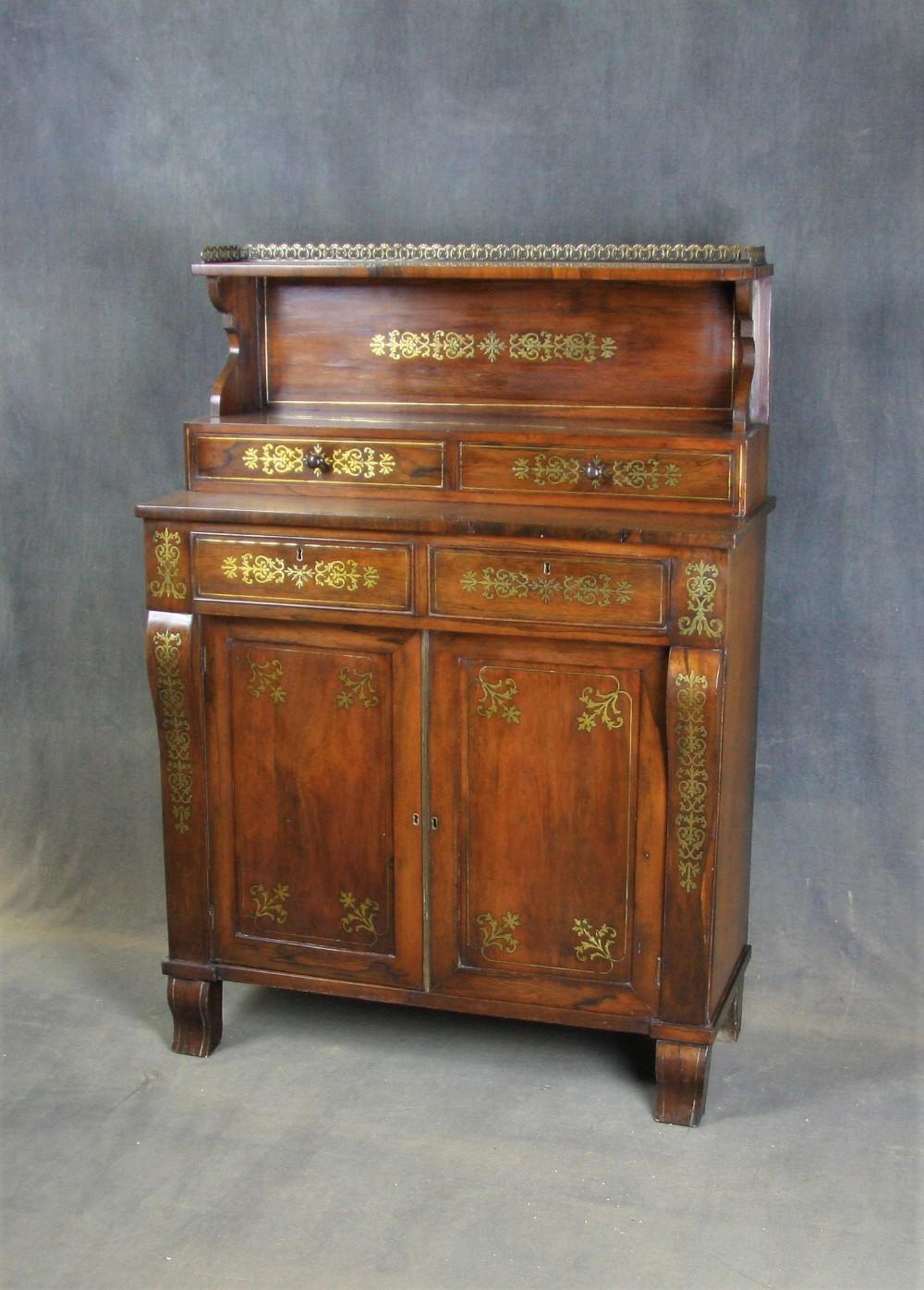 regency rosewood sideboard chiffonier