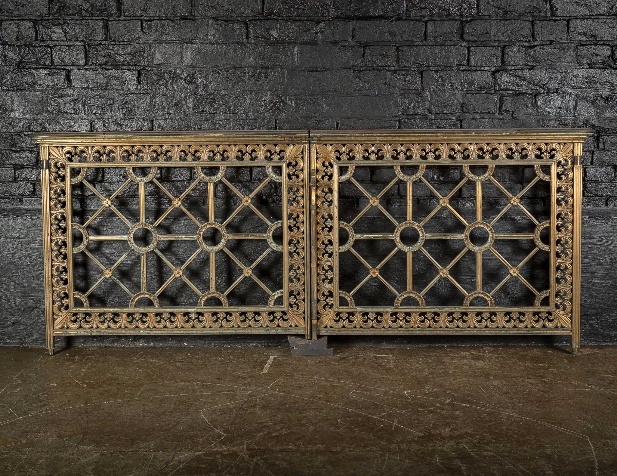 19th c george gilbert scott jr brass alter gates from norwich cathedral