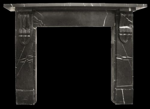 Antique Mid Victorian Black Marble Fireplace Surround | 326206 ...