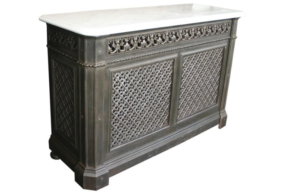 Original late 19th century cast iron radiator cover with - Cast iron radiator covers ...