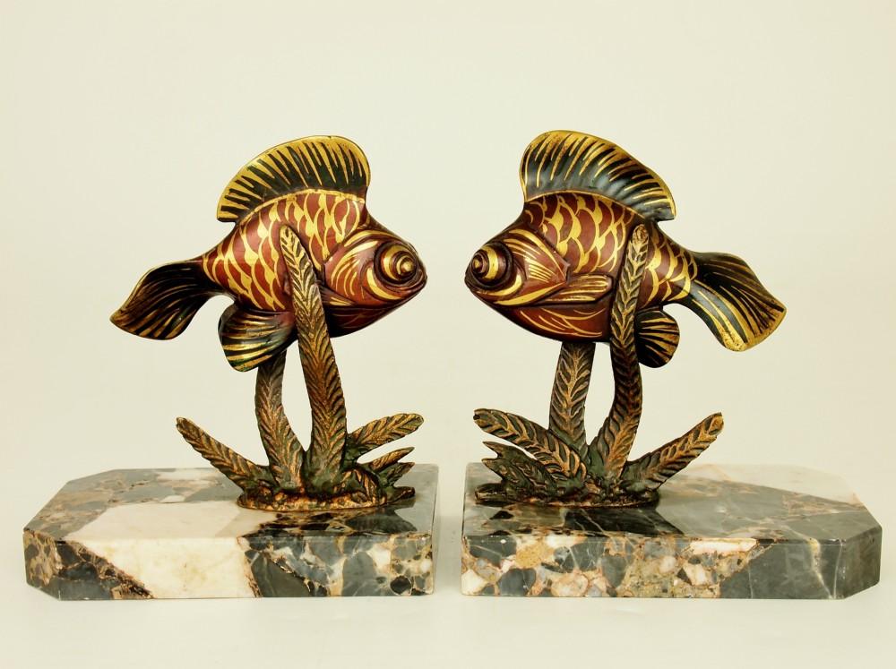Art Deco Fish Bookends 387453 Sellingantiques Co Uk