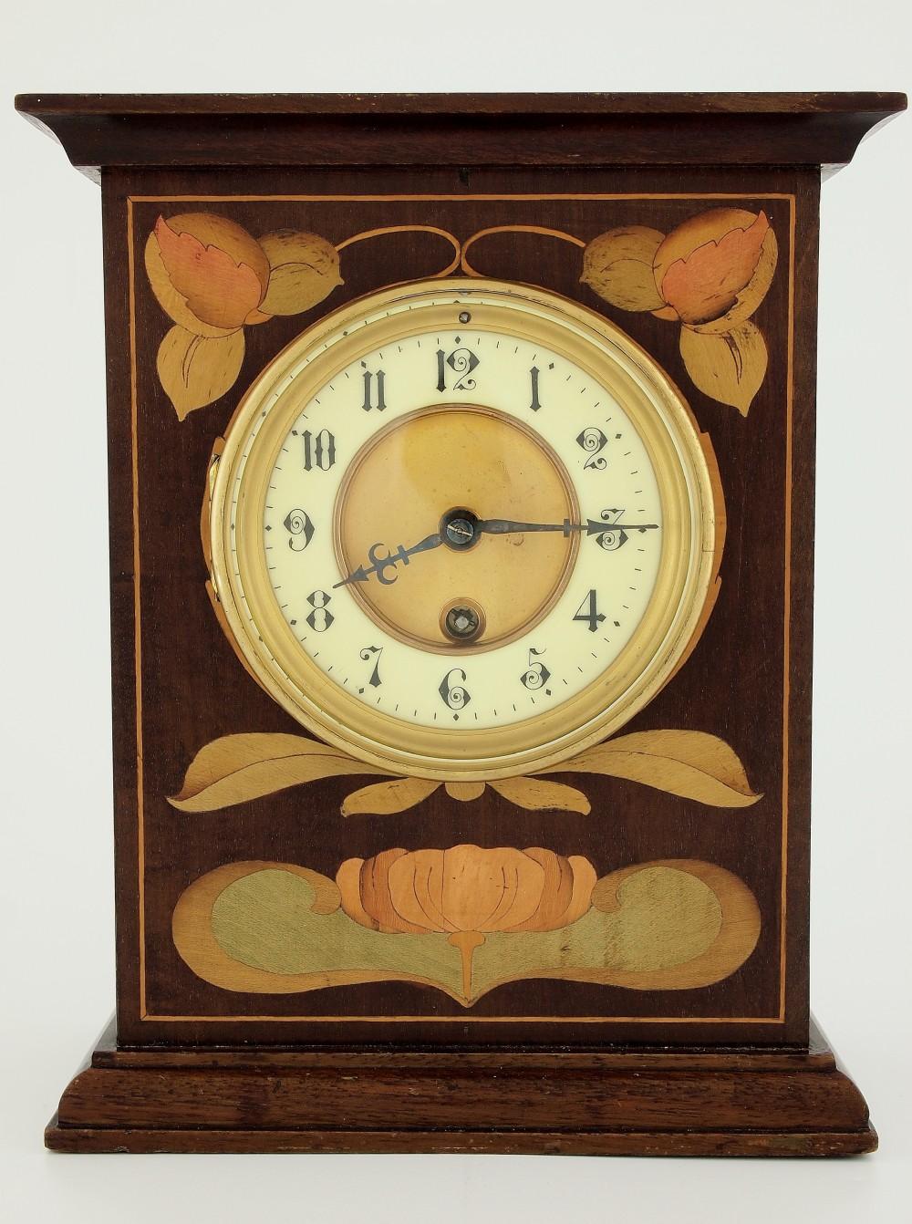 english art nouveau mantle clock