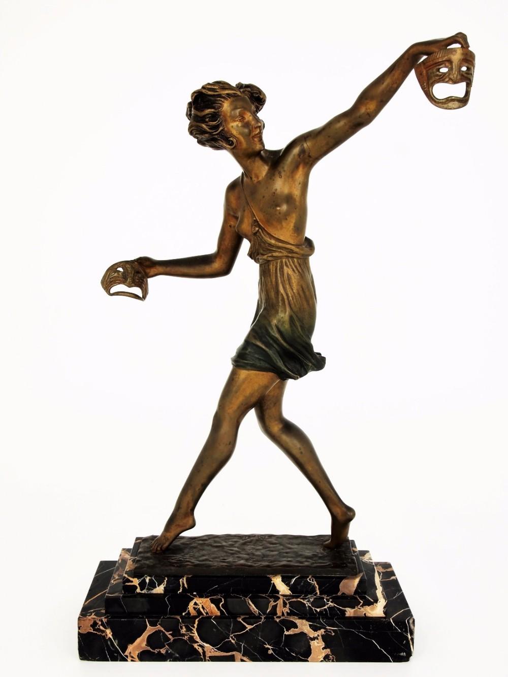 marcel bouraine bronze mask dancer