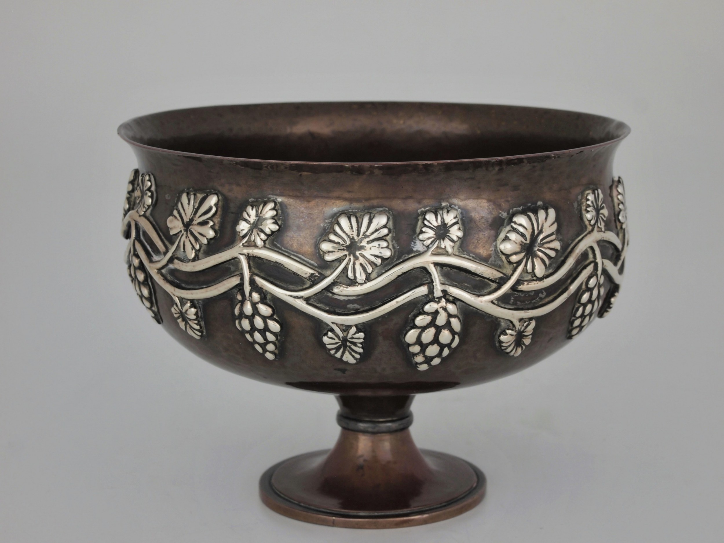 copper and silver bowl made by the duchess of sutherland cripples' guild