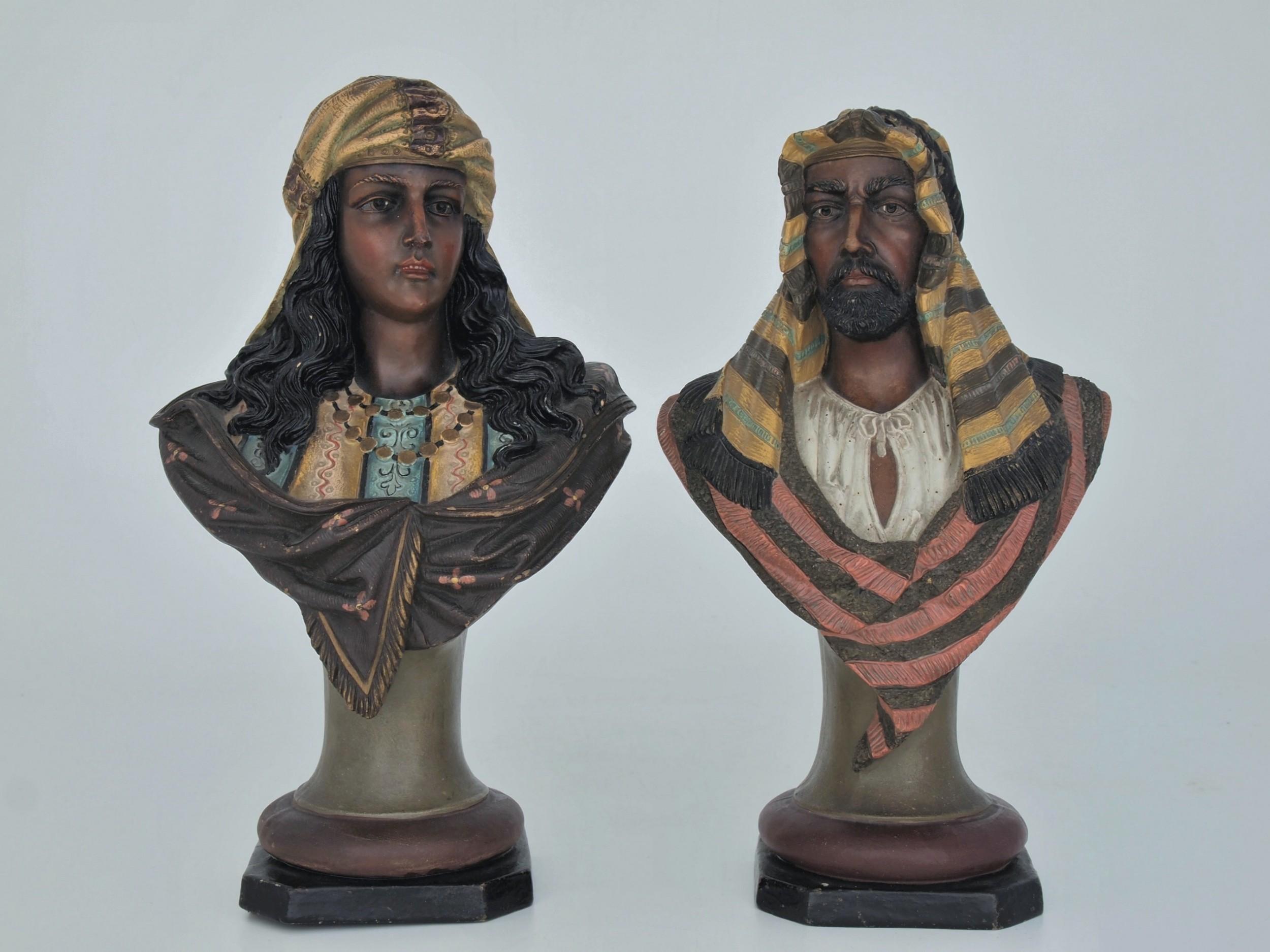 pair of orientalist busts