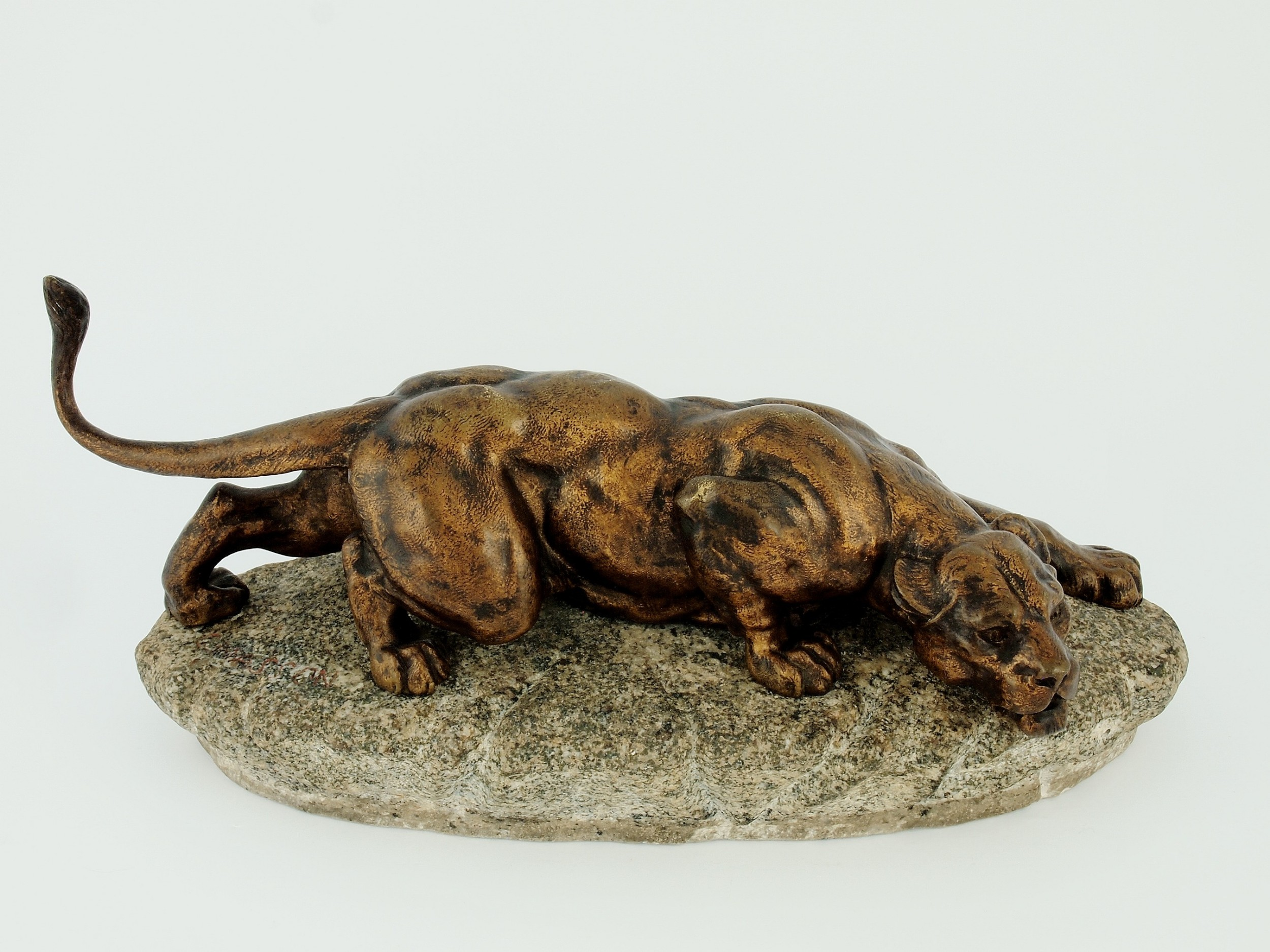french bronze panther by c masson