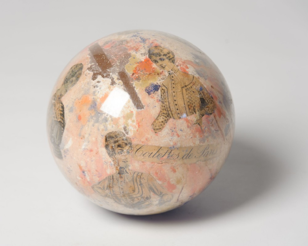 antique french glass ball