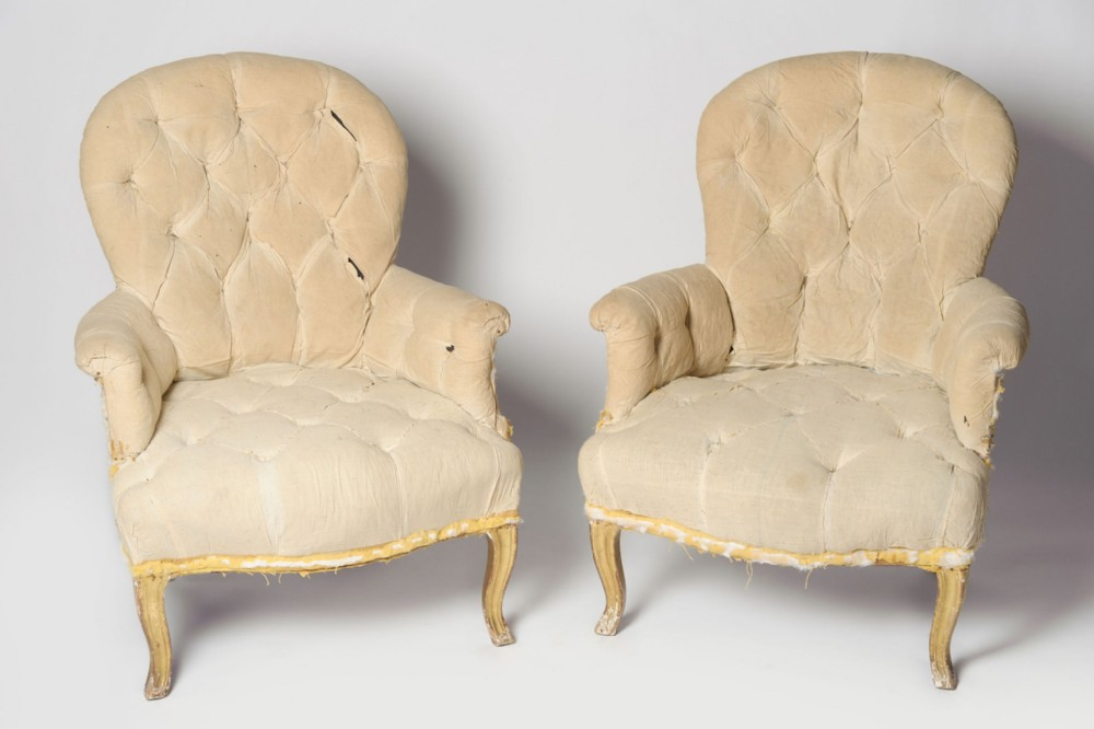 antique french pair of 19th century chairs