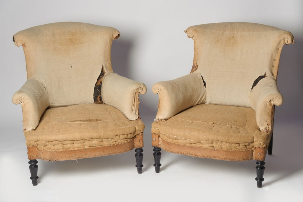 antique french napoleon iii pair of chairs