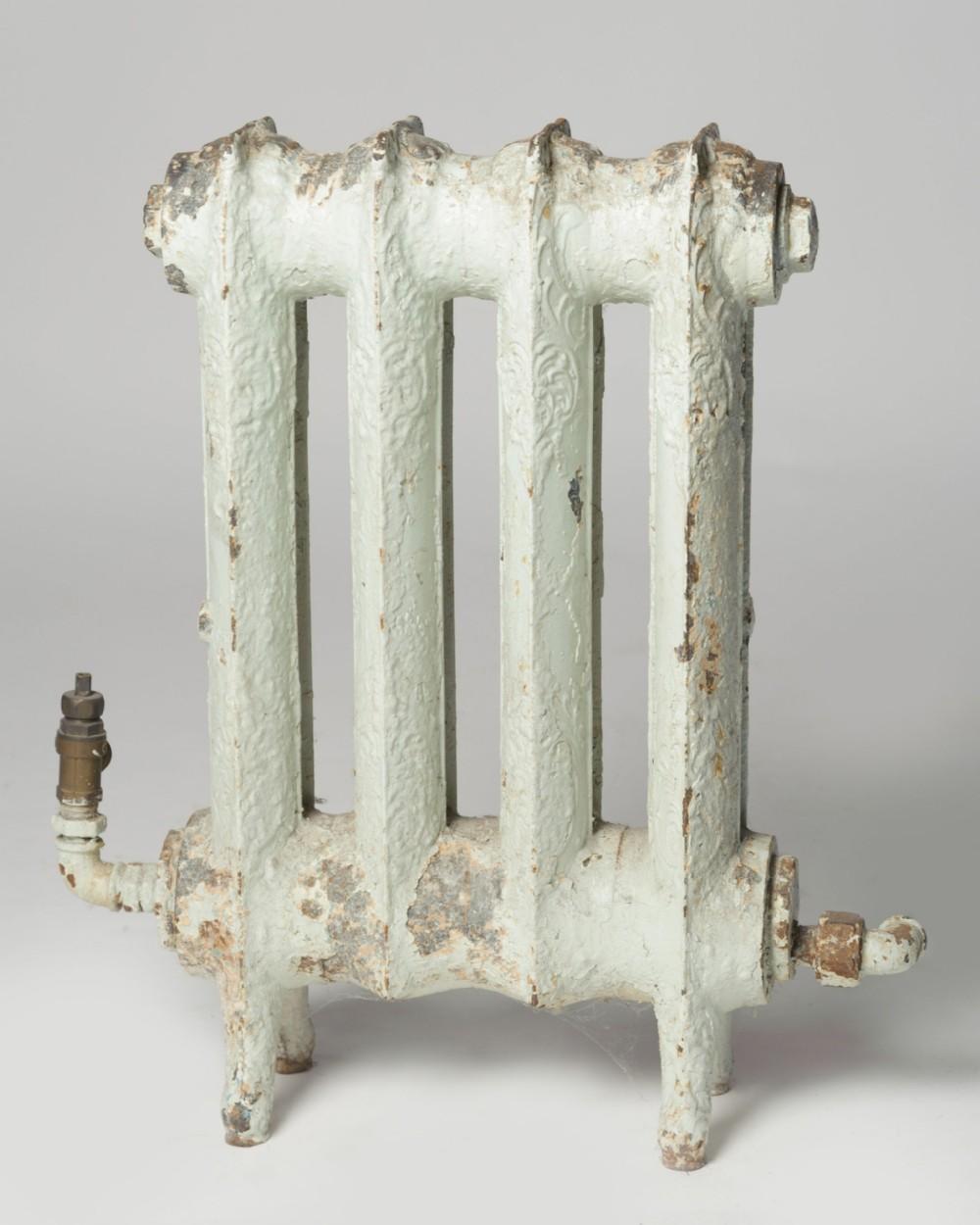 rare small antique cast iron radiator