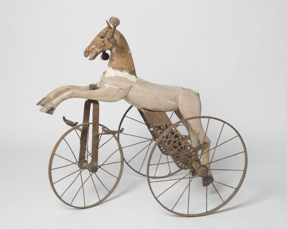 antique 19th century french tricycle horse