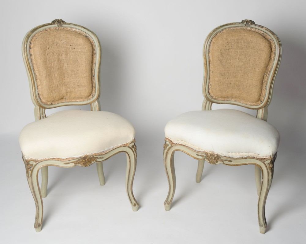 pretty pair of antique french chairs