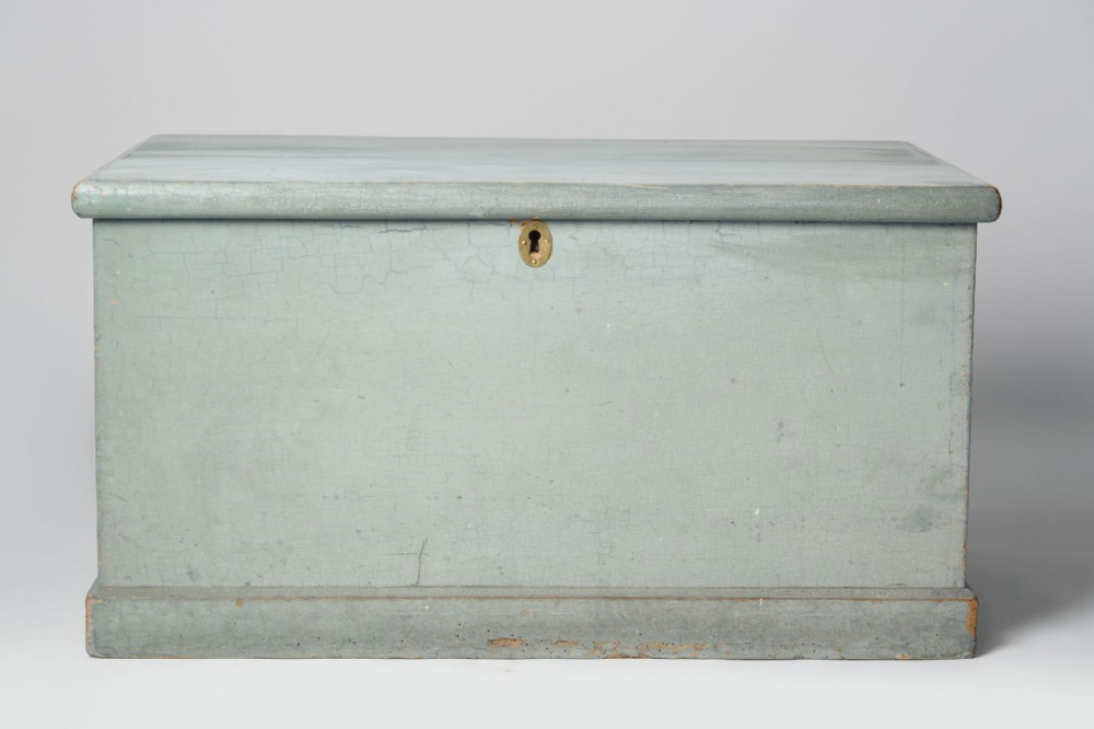 english antique pine blanket box