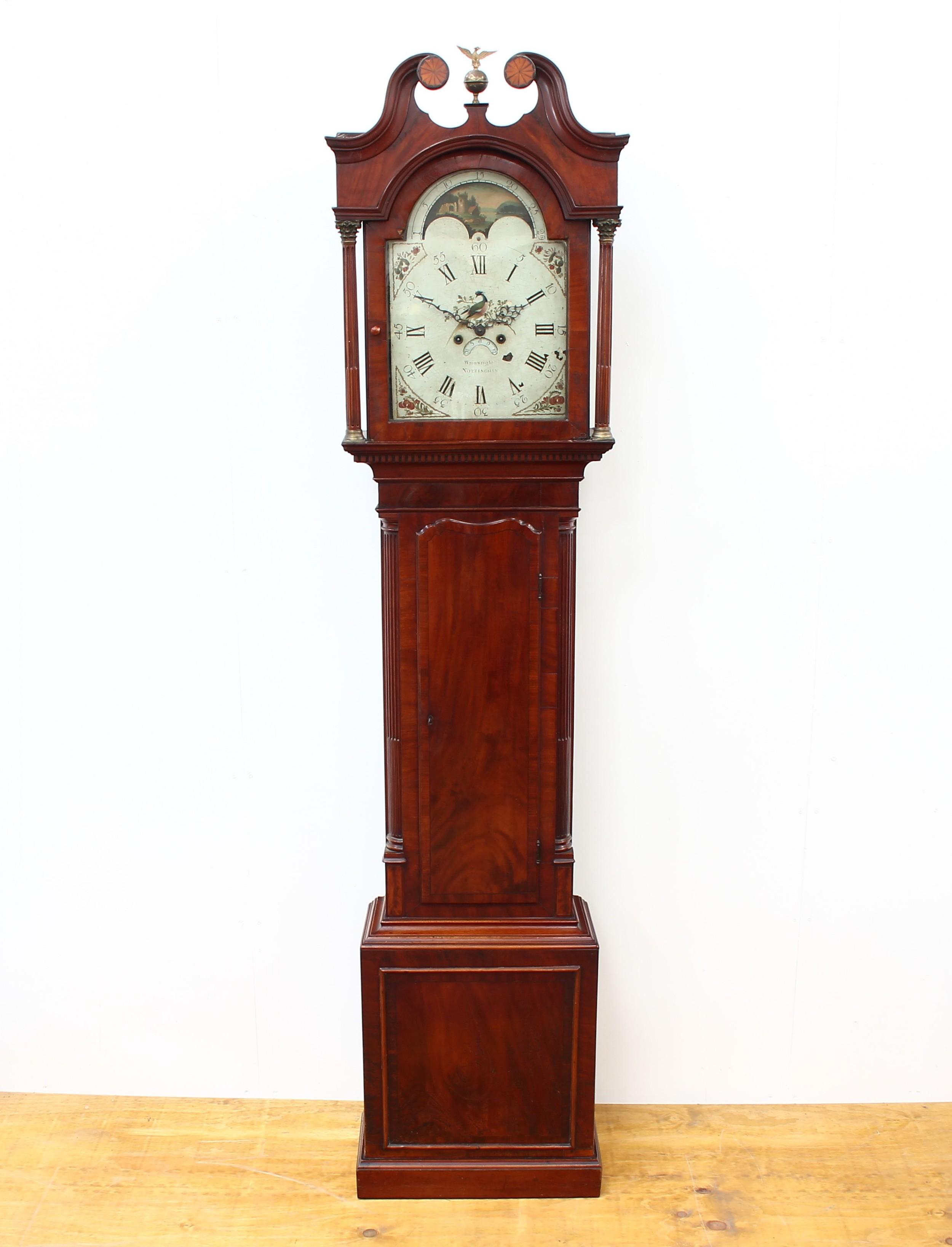 wainwright of nottingham 8 day long case clock