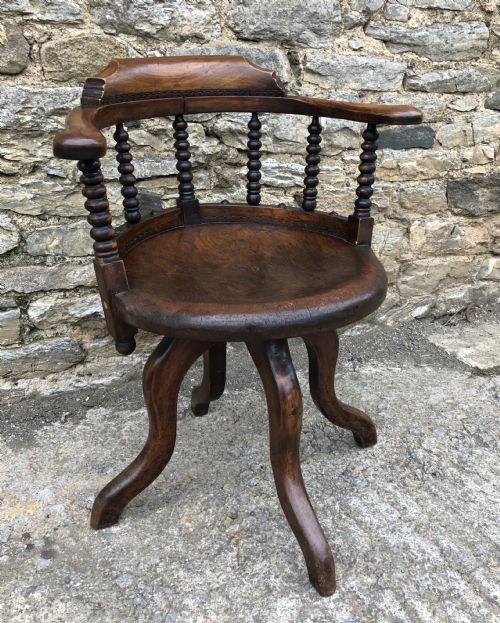 In A Nutshell Antiques and Interiors · ANTIQUE OVERSIZED CAPTAINS DESK CHAIR - Antique Desk Chairs - The UK's Largest Antiques Website