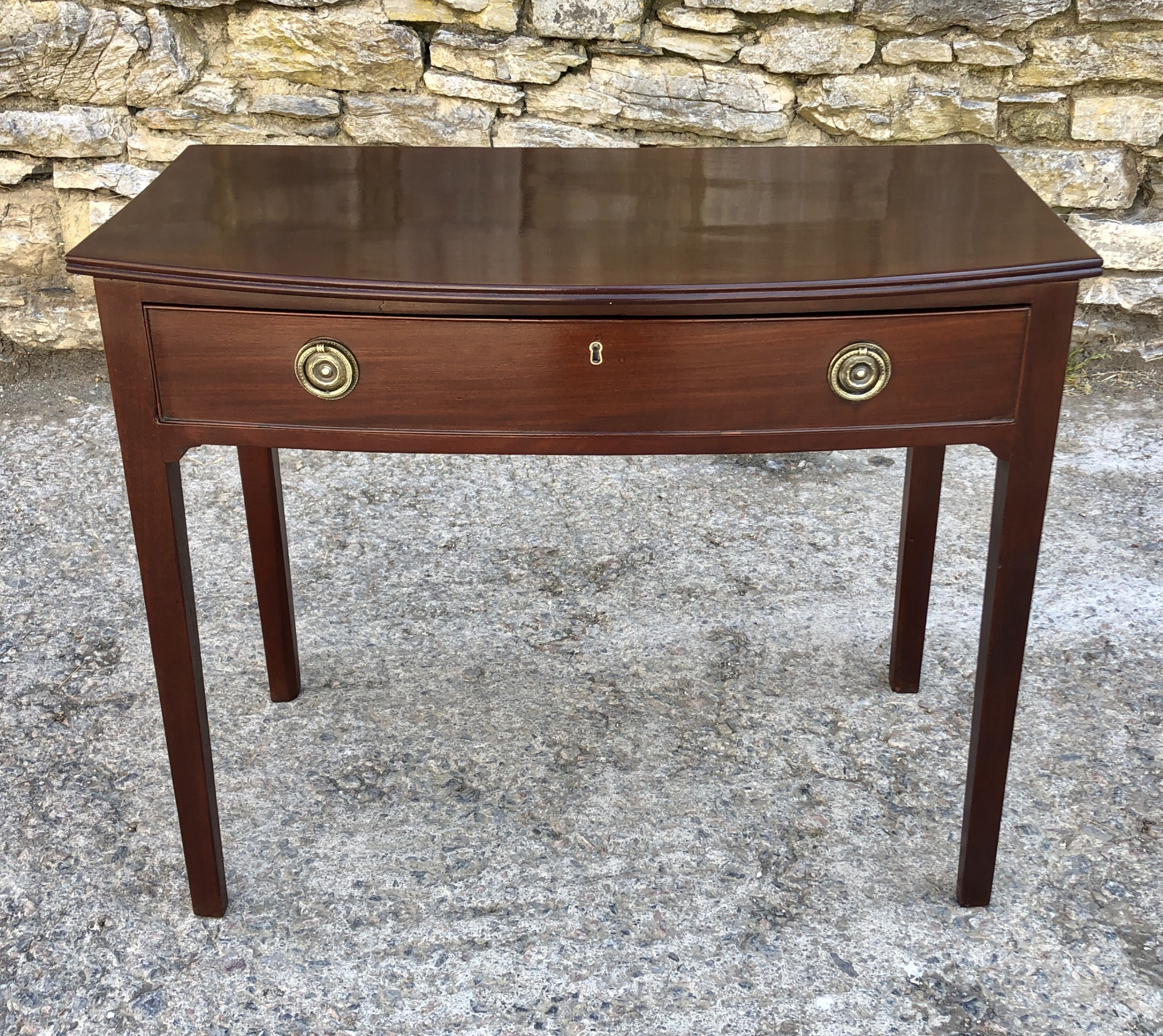 georgian mahogany bow front side table