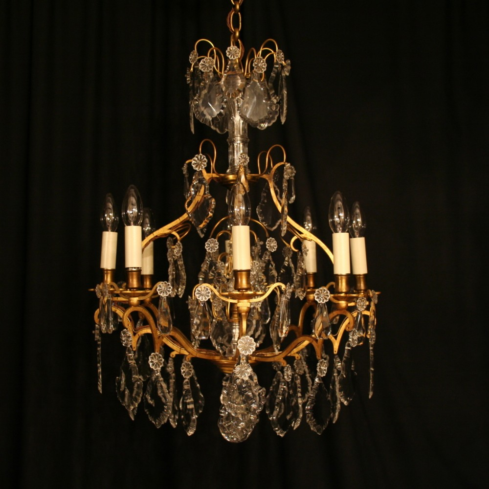 A French Gilded Birdcage Antique Chandelier 251079