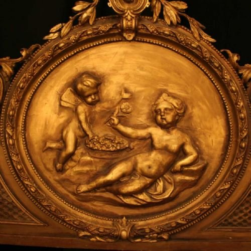 french gilded cherub bed head - photo angle #2