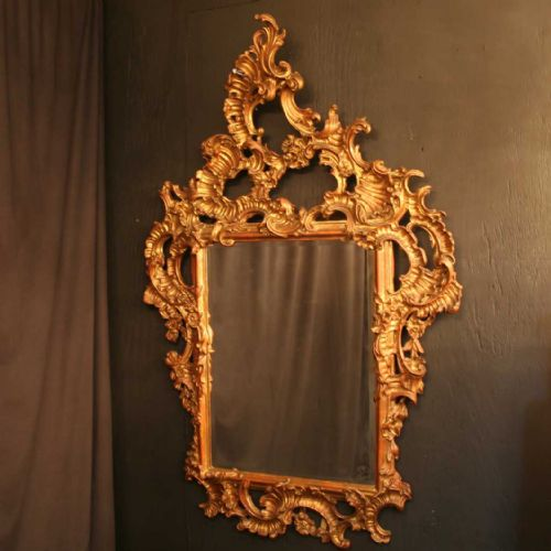 an italian ornate gilded rococo antique mirror 213927
