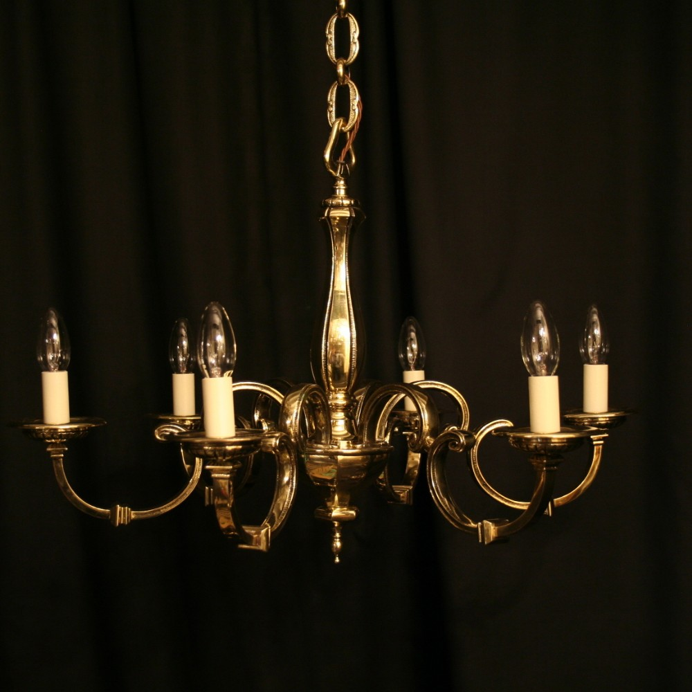 antique lighting for sale uk. an english cast brass 6 light antique chandelier lighting for sale uk