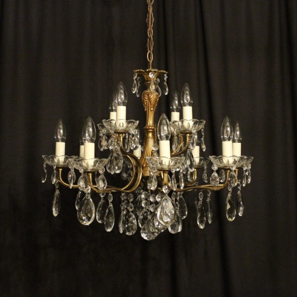 Italian gilded 12 light double tiered antique chandelier 466139 italian gilded 12 light double tiered antique chandelier arubaitofo Choice Image