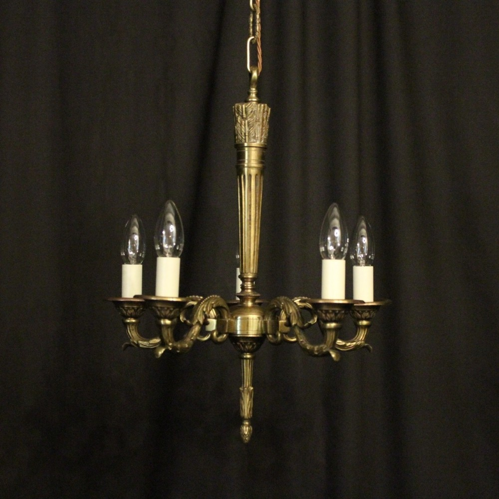 french bronze 5 light antique chandelier