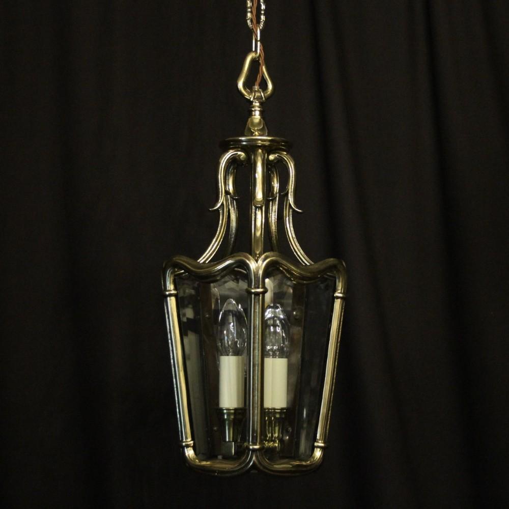 french twin light brass antique hall lantern
