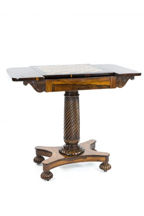 regency rosewood chess and occasional table atributed to gillows of lancaster