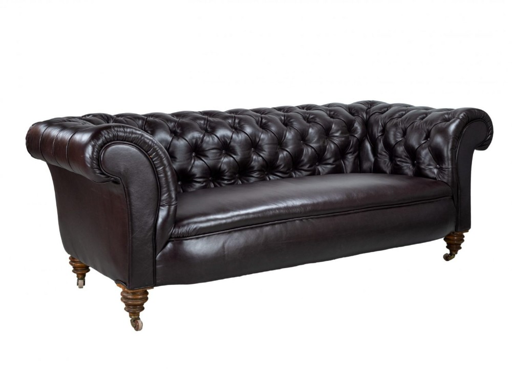 deep button back chesterfield by jas shoolbred in maroon leather