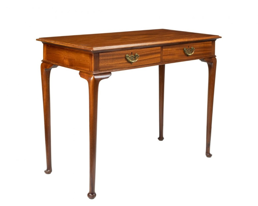 mahogany two drawer desk or side table signed gillows