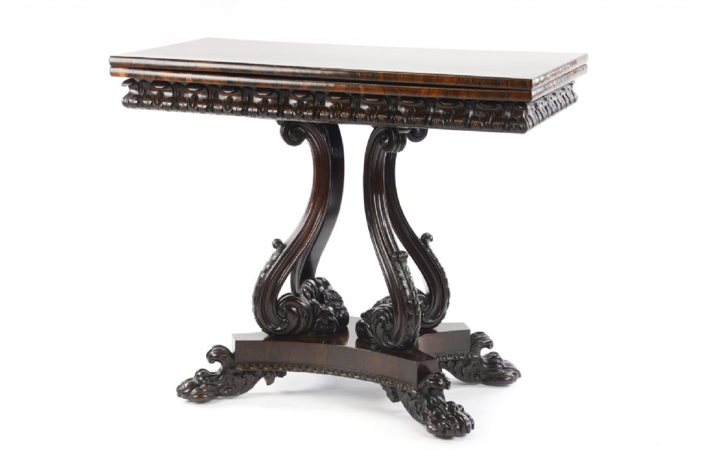 fine quality william iv rosewood card table attributed to gillows