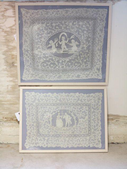 Framed Lace   332216   Sellingantiques.co.uk