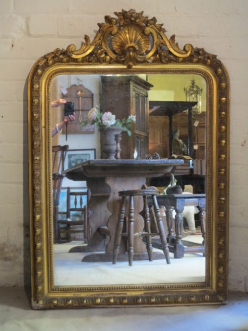 distressed 19th century mirror