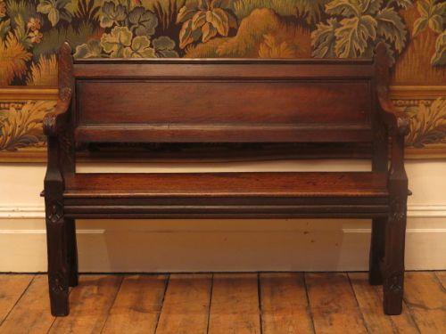 19th century hall bench