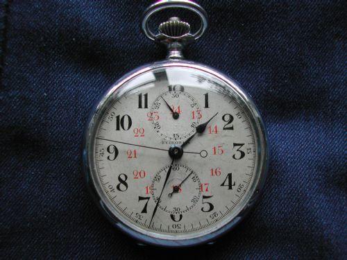 japanese naval seikosha ww2 military issue pocket watch chonograph