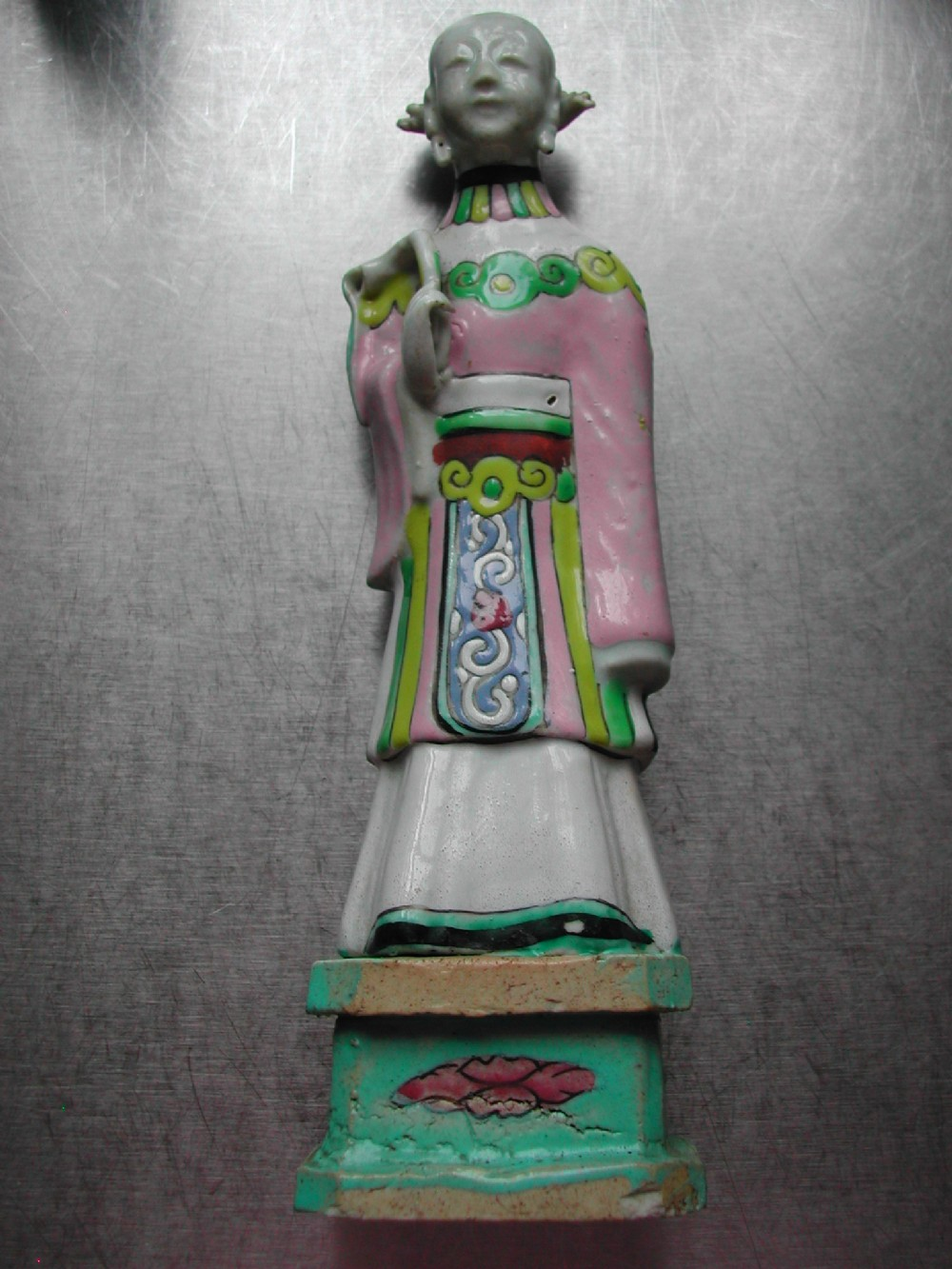 chinese 18th century brightly enamelled porcelain figure of a female immortal