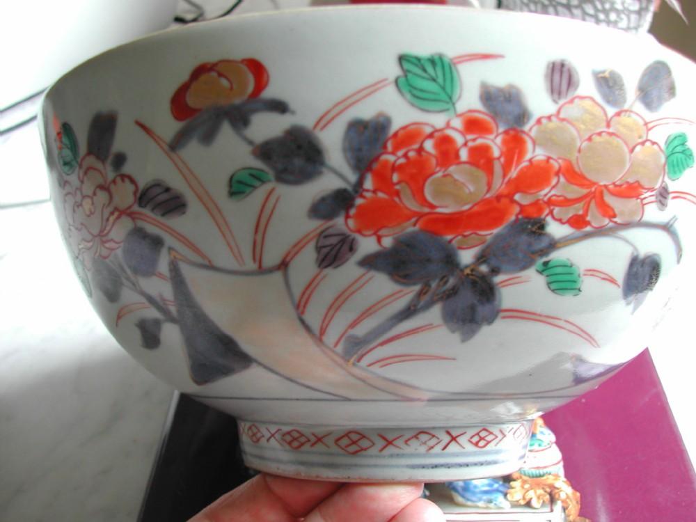 a large deep japanese imari bowl dating to first quarter 18th century