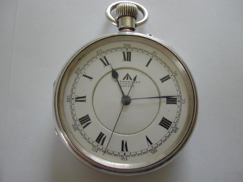 a fine ww1 british royal naval silver deck watch by w ehrhardt with naval extract dated 1918