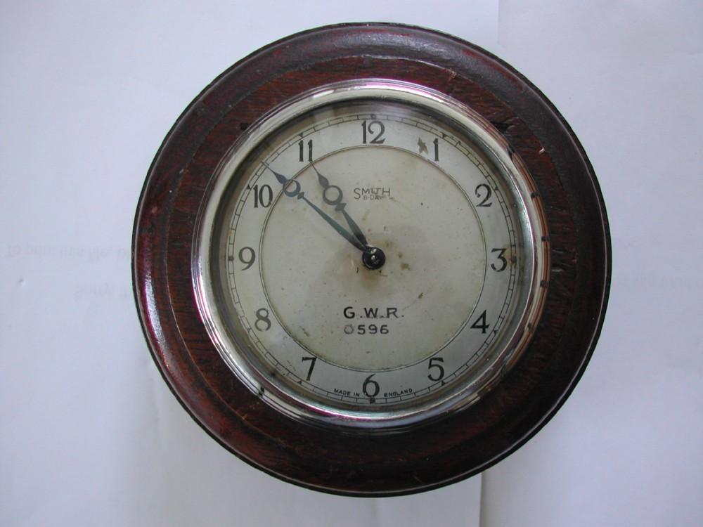 great western railway 8day signal box pork pie tool clock no 0596 by smith dating pre1939