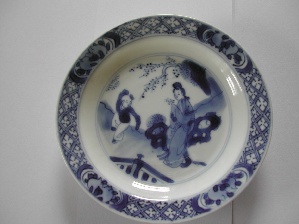 a fine small chinese blue and white plate dating to the kangxi period