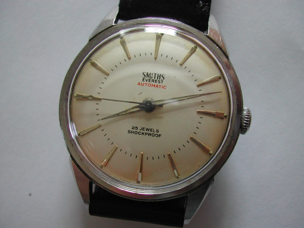 smiths 25 jewel automatic everest model in stainless steel case circa 1966