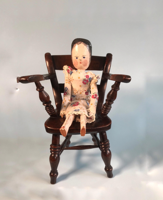 antique dolls chair