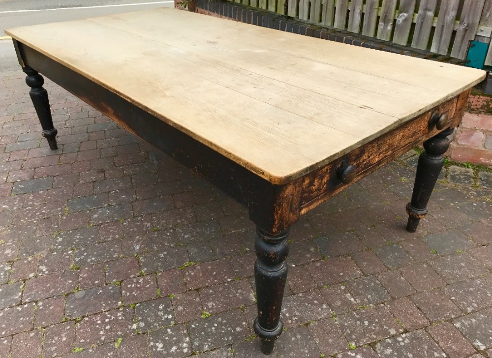 Outstanding A Substantial Large Farmhouse Kitchen Table 468201 Download Free Architecture Designs Intelgarnamadebymaigaardcom
